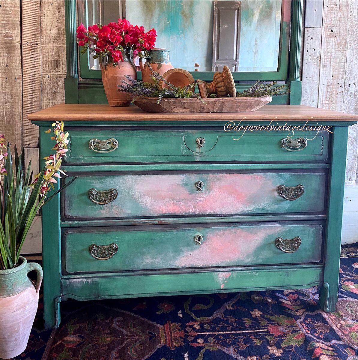 #paintedfurniture #furnitureartist #layeredpaint #antique #bohostyle #diyhomedecor #colormovement #cottagestyle #modernfarmhouse #upcycle #debisdesigndiary #diypaint #textured #wallart #peelingpaint #patina #transfers #timeless