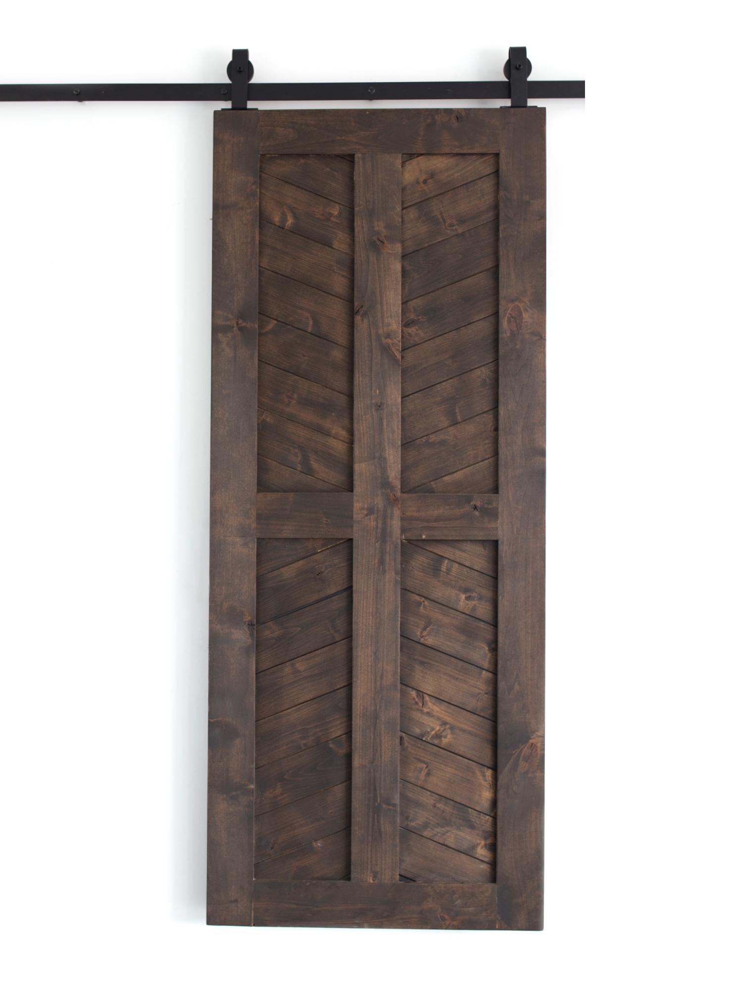4 Panel Chevron Door