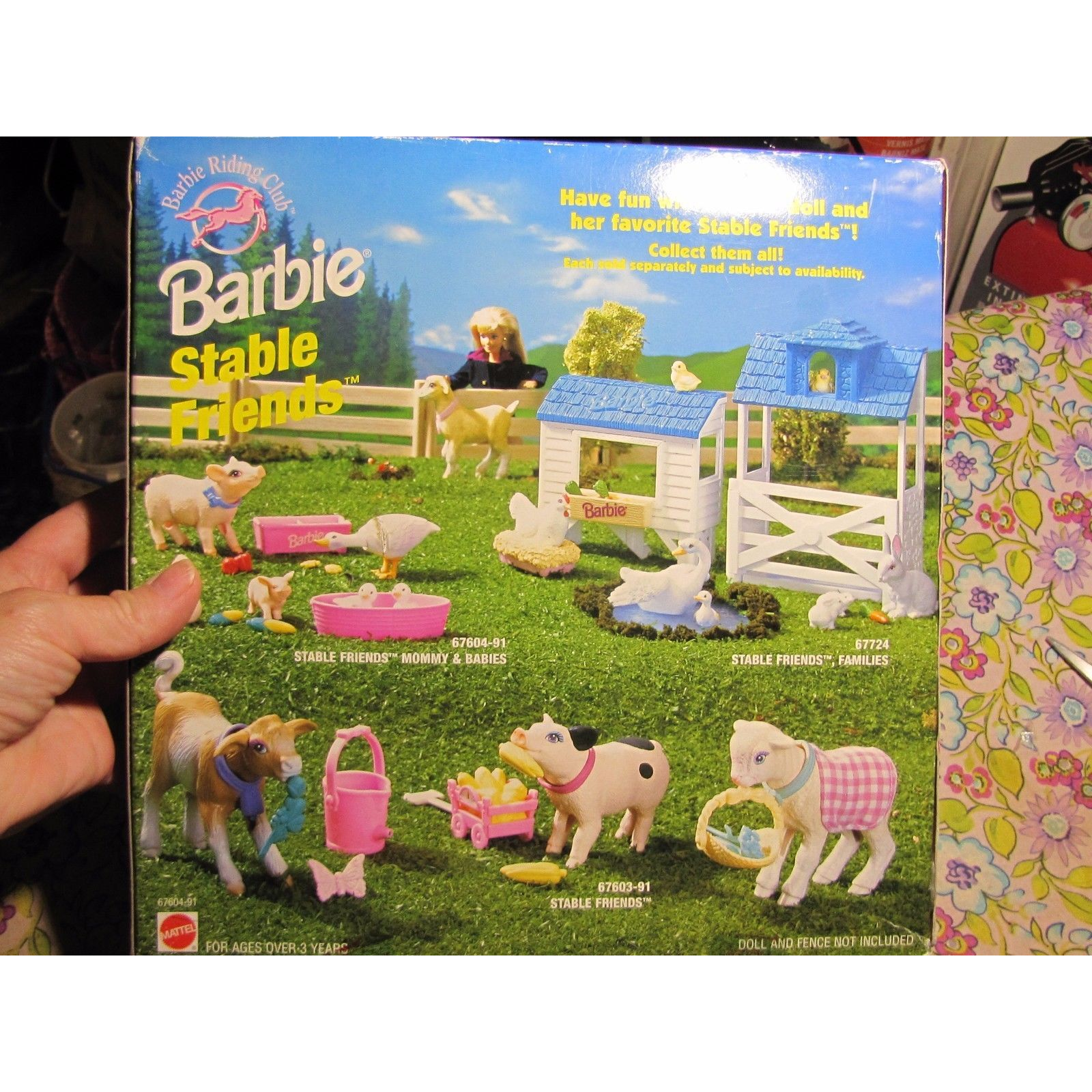 Barbie Barbie Stable Friends Barbie, Mommy baby, Baby pigs