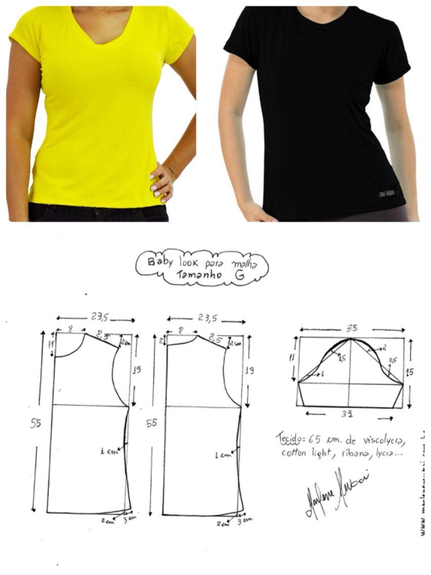 Tshirt pattern | fitness | Pinterest | Patrones de camisa, Camisas y ...