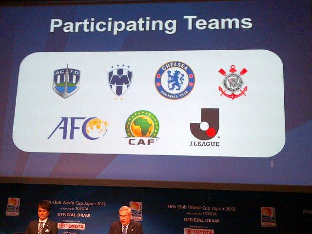 Equipos participantes del Mundial de Clubes 2012