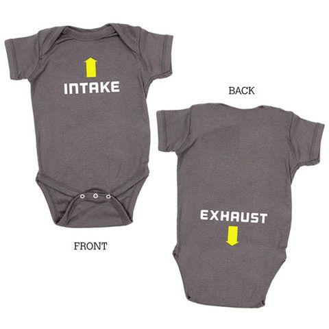 2788ca7c5 Intake / Exhaust Onesie | BABY... | Onesies, Boy onsies, Baby kids