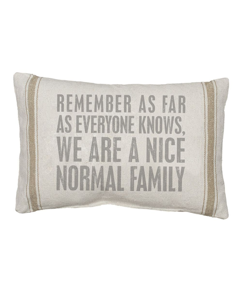 Look at this Natural 'As Far As Everyone Knows' Pillow on #zulily today!