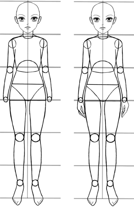 An Easy Anime Body Proportions Tutorial Manga Tuts Body Proportions Girl Anatomy Cartoon Body