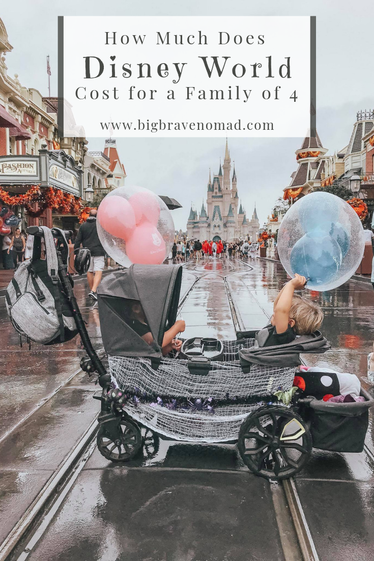 How Much Does Disney World Cost For A Family Of Four Big Brave Nomad Disney World Disney World Trip World