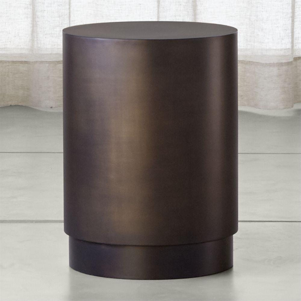 Patina Bronze Drum Table | Products | Drum table, Small ...