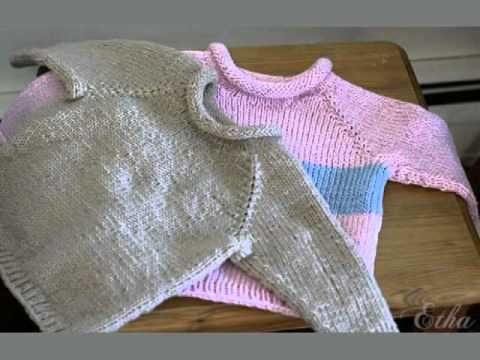 Knitting Pattern For Toddler Raglan Sweater : How to knit raglan sweater for a child - video tutorial ...