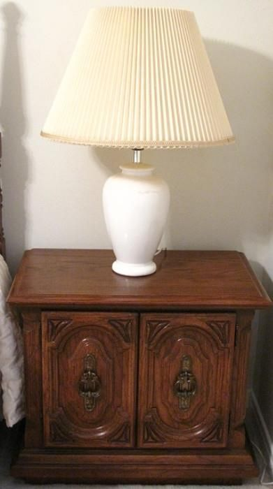 Sumter Furniture, Sumter S.C. Double Drawer Night Stand (1 Of 2 Shown)
