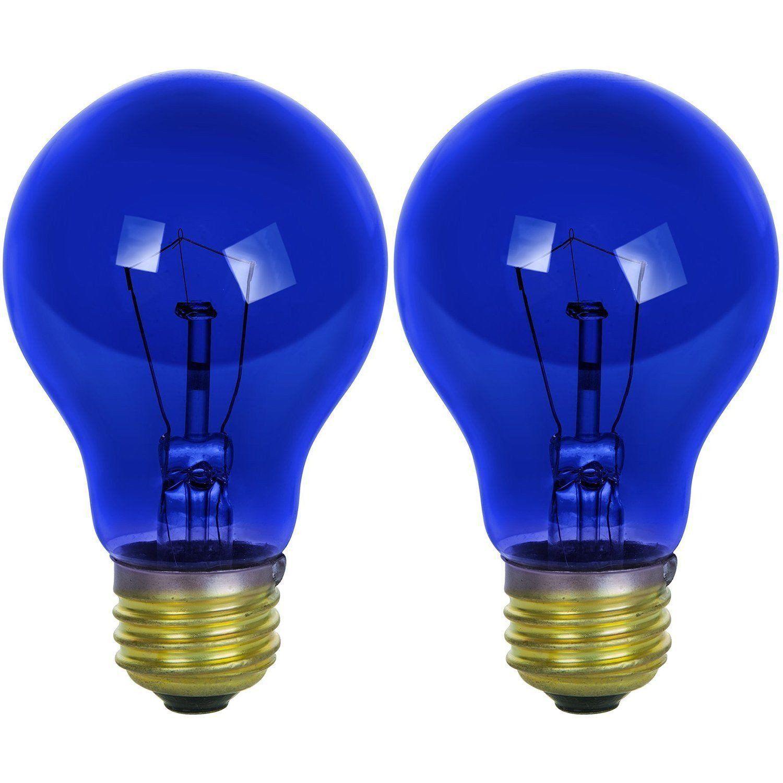 Mouseover Image To Zoom Sunlite 25 Watt A19 Colored Medium Base Transparent Incandescent General Characteristics Bulb A19 L Blue Light Bulb Bulb Transparent