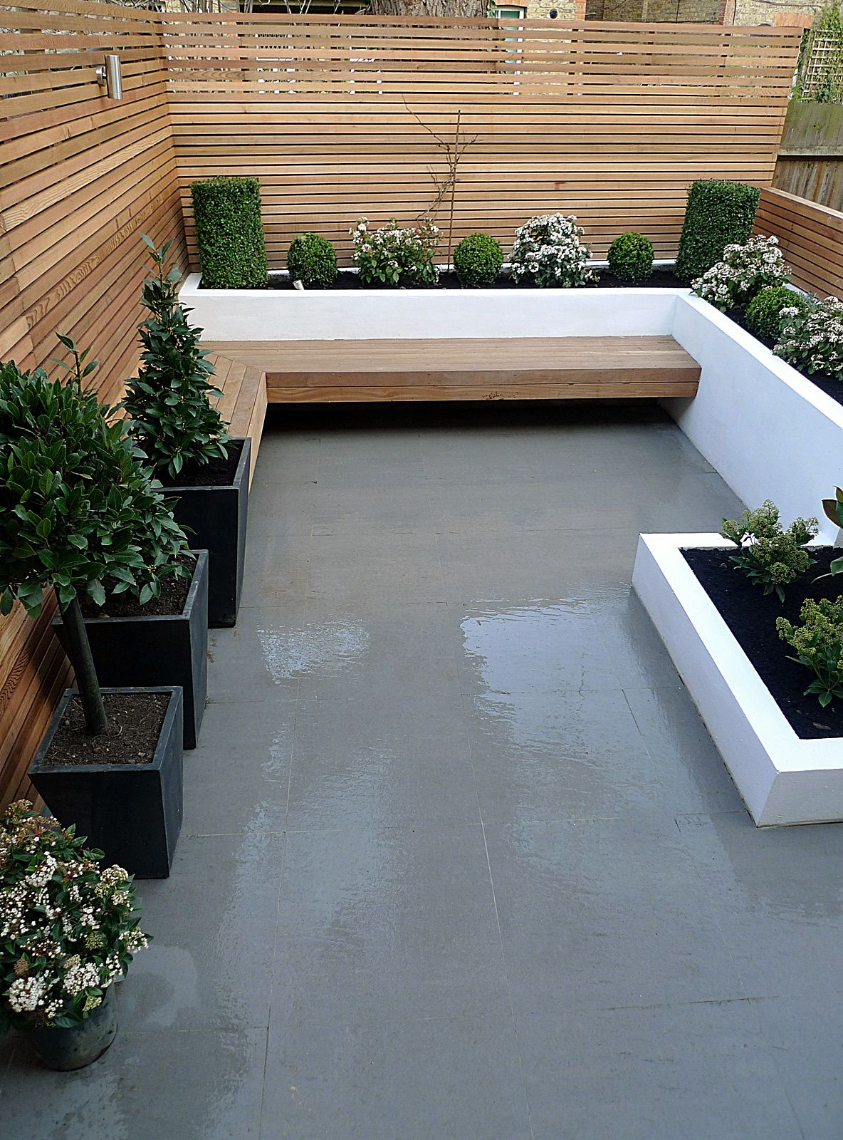 garden tiles design. Garden design designer clapham balham battersea small low maintenance  modern garden 21 How To Start A Vegetable 21st Designers and Modern