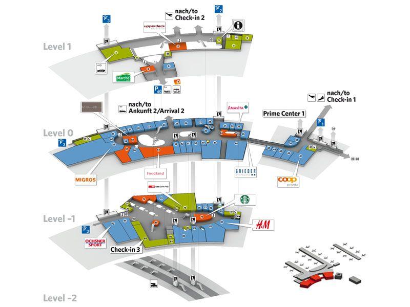 Übersichtspläne Flughafen Zuerich Flughafen zürich