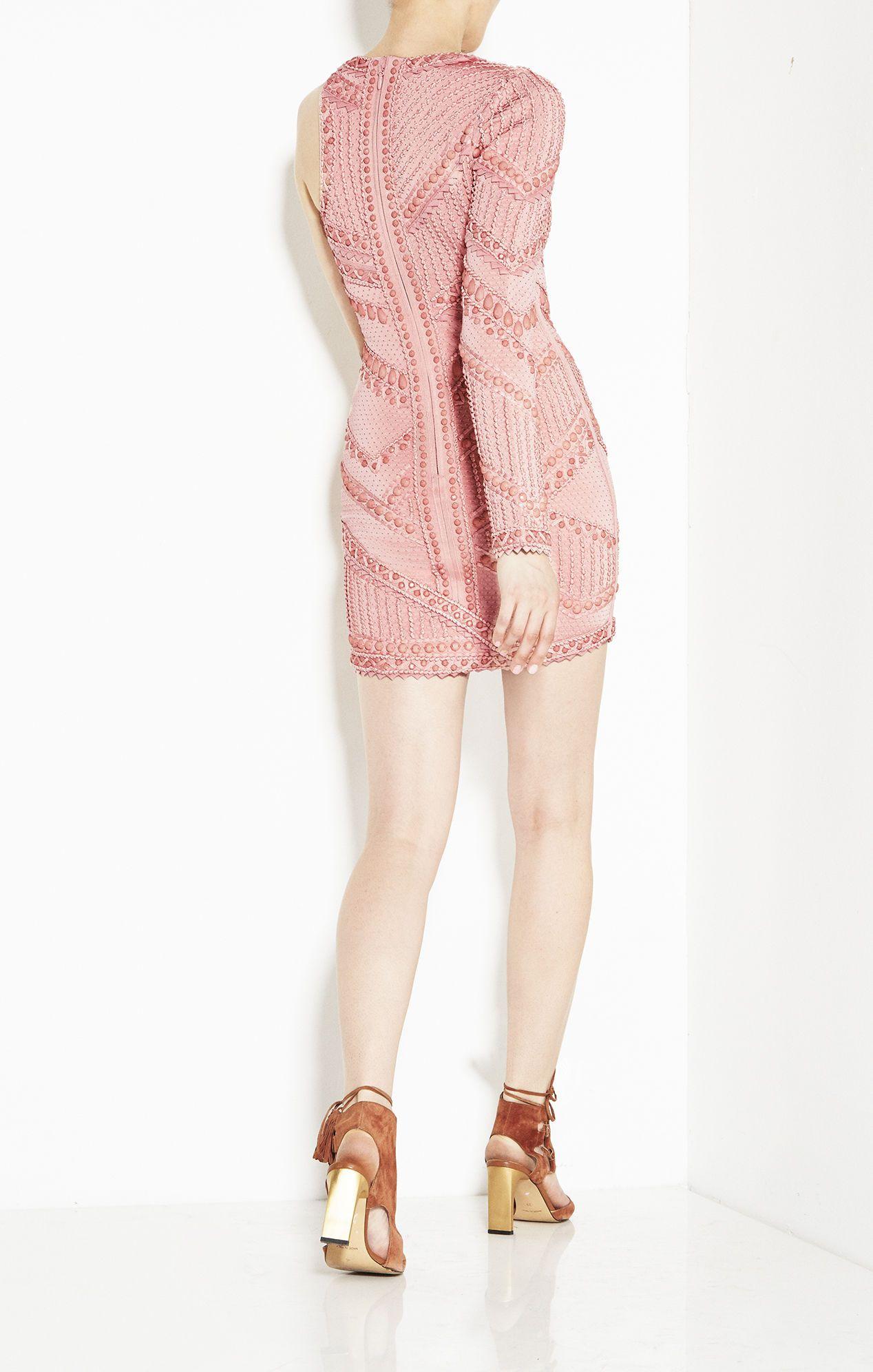 Herveleger amelia origami bead knot detail dress high fashion