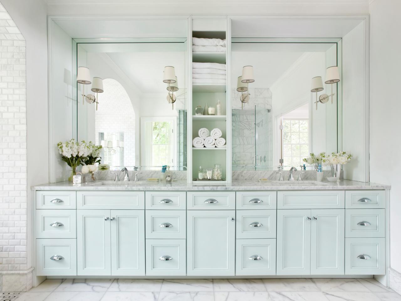 Bathroom Vanity Brick wall interior Pinterest Large framed