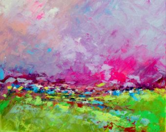 Abstract Landscape 'Remember Me' - acrylic painting on canvas - size 40cm x 40cm