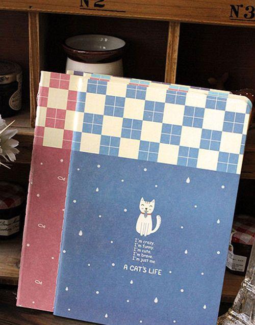 Paperback Cat Notebook