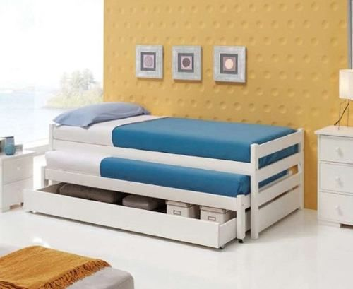 cama nido laqueada blanca guatambú camas infantiles | Muebles ...