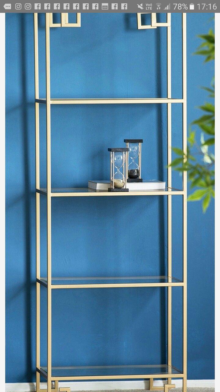 Gold luxe shelf 178 x 61 x 36 $950 | Classy luxe for men | Pinterest ...