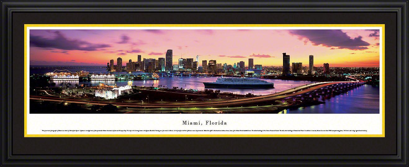 Miami Beach, Florida Picture - Panoramic Picture $29.95 | Miami ...