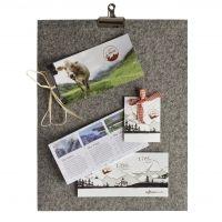 Pinnwand aus Filz   alpenweit   Feinkost - Alpiner Lifestyle - Design