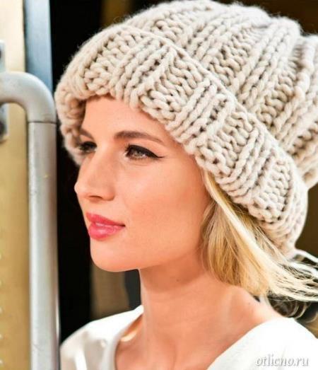шапка из толстой пряжи вязание вязание для девочек вязание для