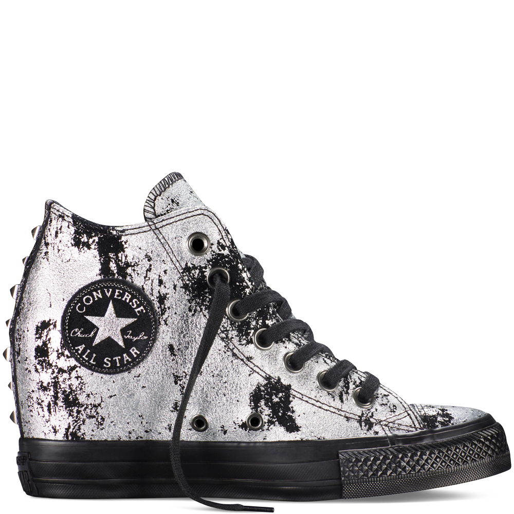 92572ec4f9b3f Chuck Taylor All Star Lux Hardware  95.00 Silver (549556C) Expensive ...