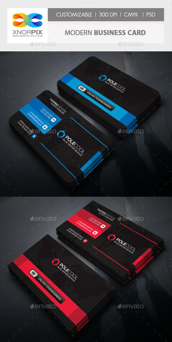 Modern Business Card | Business cards, Business and Card templates