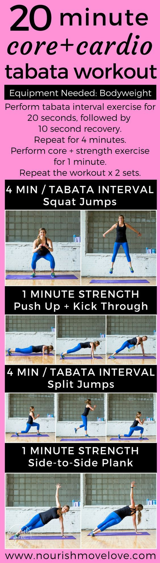 20Minute Bodyweight Tabata Workout Tabata workouts