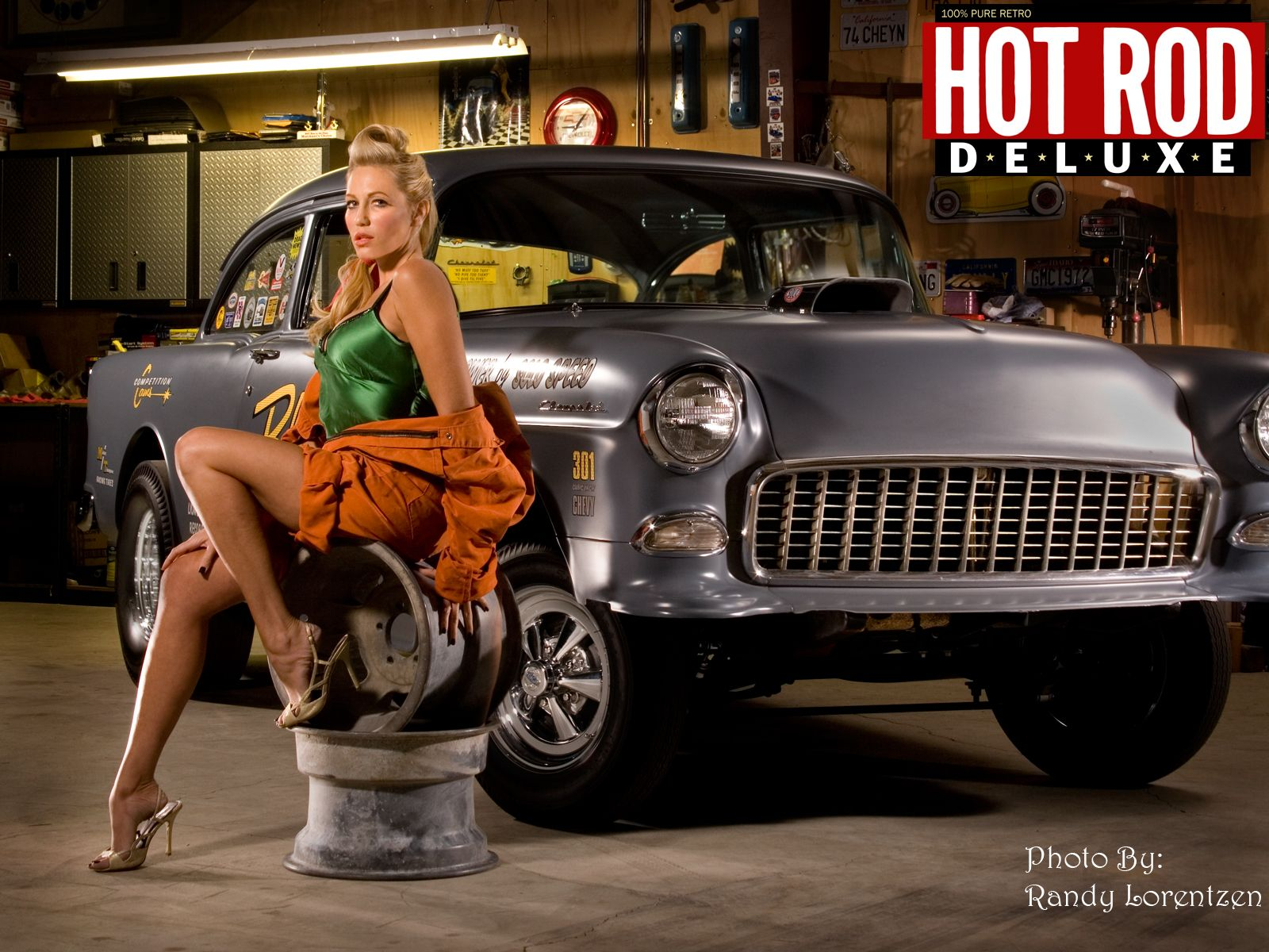 Blonde And Chevy Gasser Pinups Models Rat Rod Girls Hot
