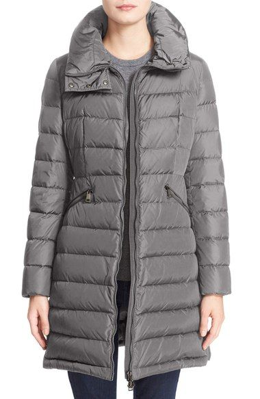 Women's Moncler 'Flammette' Water Resistant Long Hooded Down Coat ...