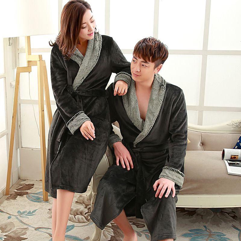 New Fashion Men\'s Soft as Silk Luxury Fur Long Warm Bathrobe Men ...