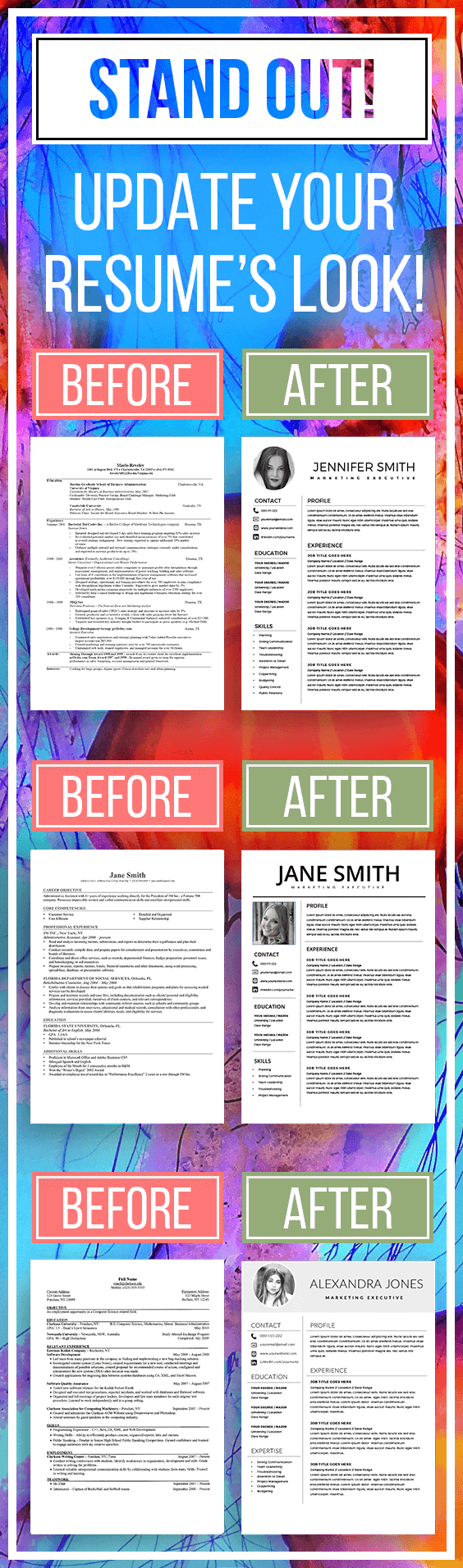 Resume Template Modern Resume Simple Resume Clean Resume Cool