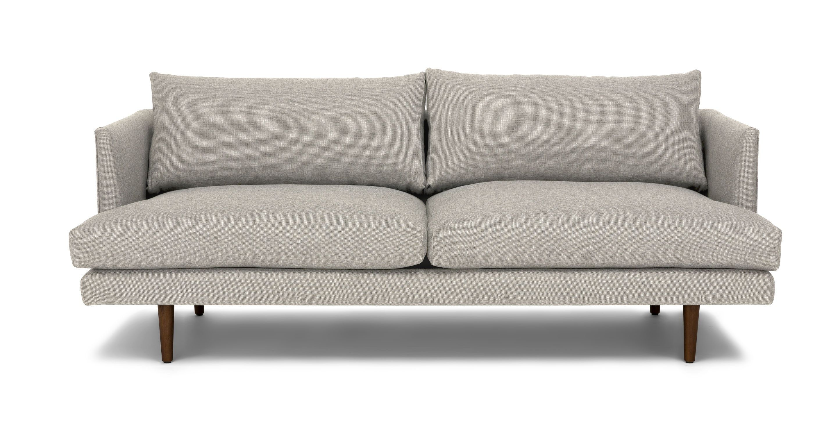 Light Gray Sofa With Solid Wood Legs Article Burrard Modern  # Muebles Saphire