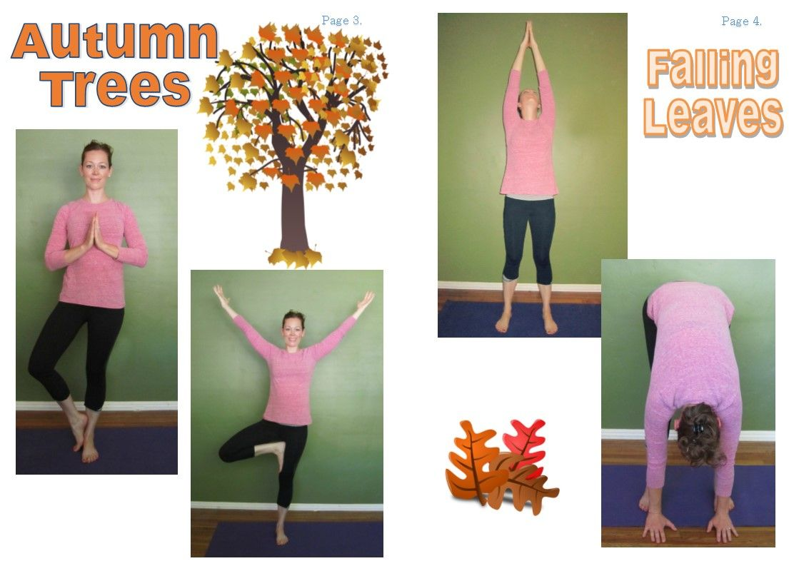 Fun Fall Themed Yoga Sequence For Kids With Full Page Photographs