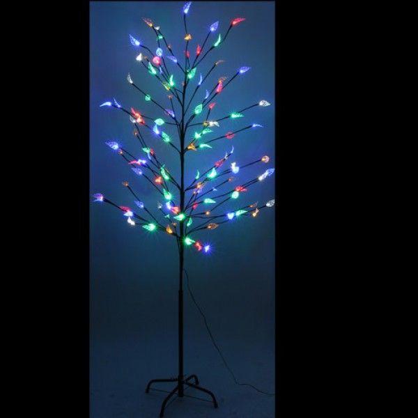 Arbre de noel noir avec feuilles multicolores 120 LED   Decoration ... 827a7fc95f15