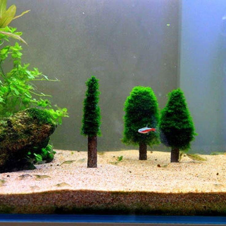 DIY Simulation Xmas Moss Christmas Tree Plant Grow Aquarium Tank Aquascape Decor | Christmas ...