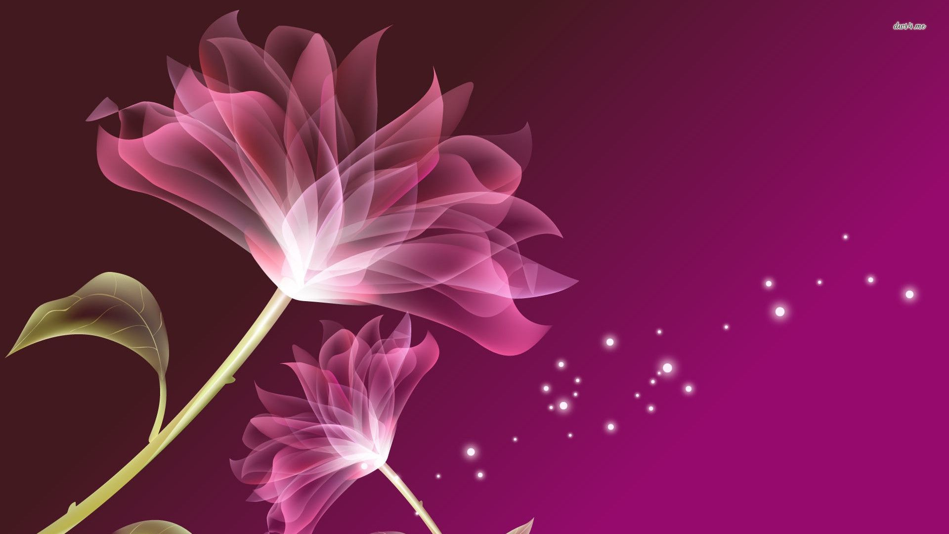 digital flowers purple flower wallpaper digital art