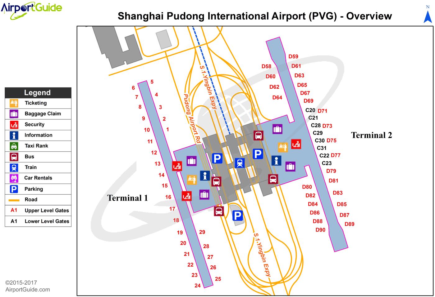 Pvg Airport Map Shanghai   Shanghai Pudong International (PVG) Airport Terminal