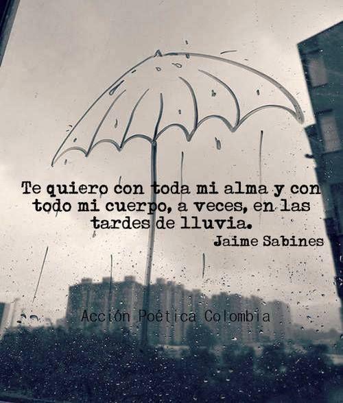 Con lluvia, más te quiero