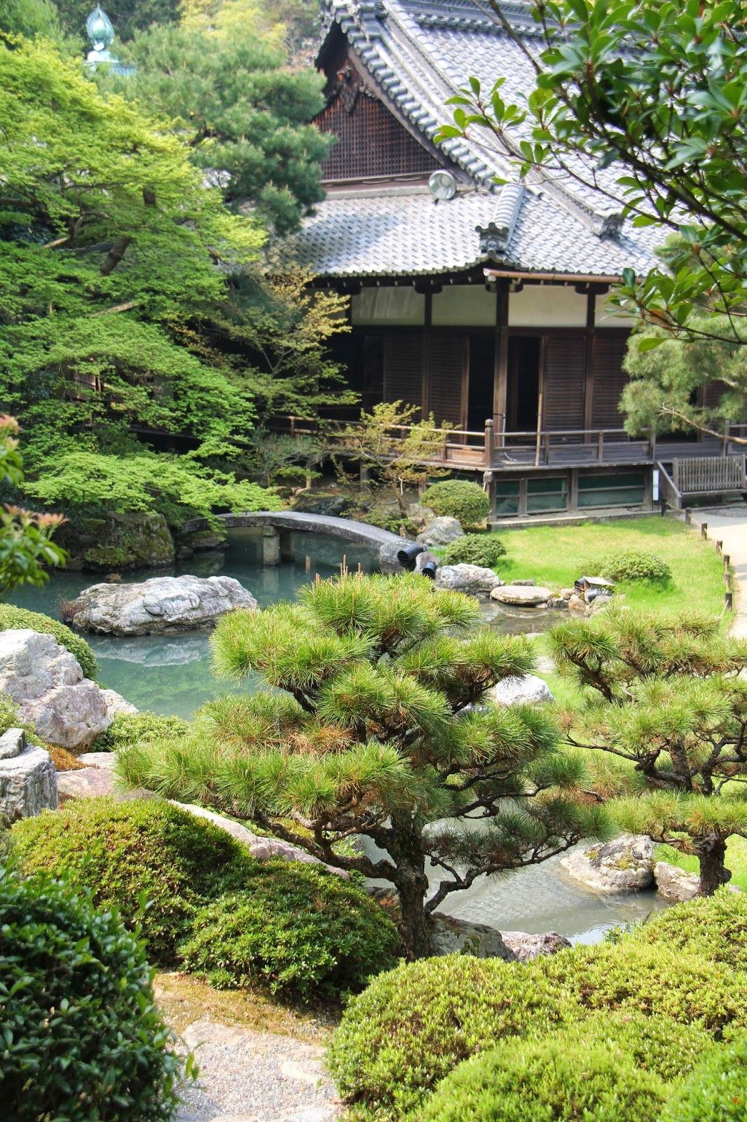 Buddhist Ceremony Traditional Japanese Garden: Shoren-in, Kyoto (Southern Higashiyama) Magical And