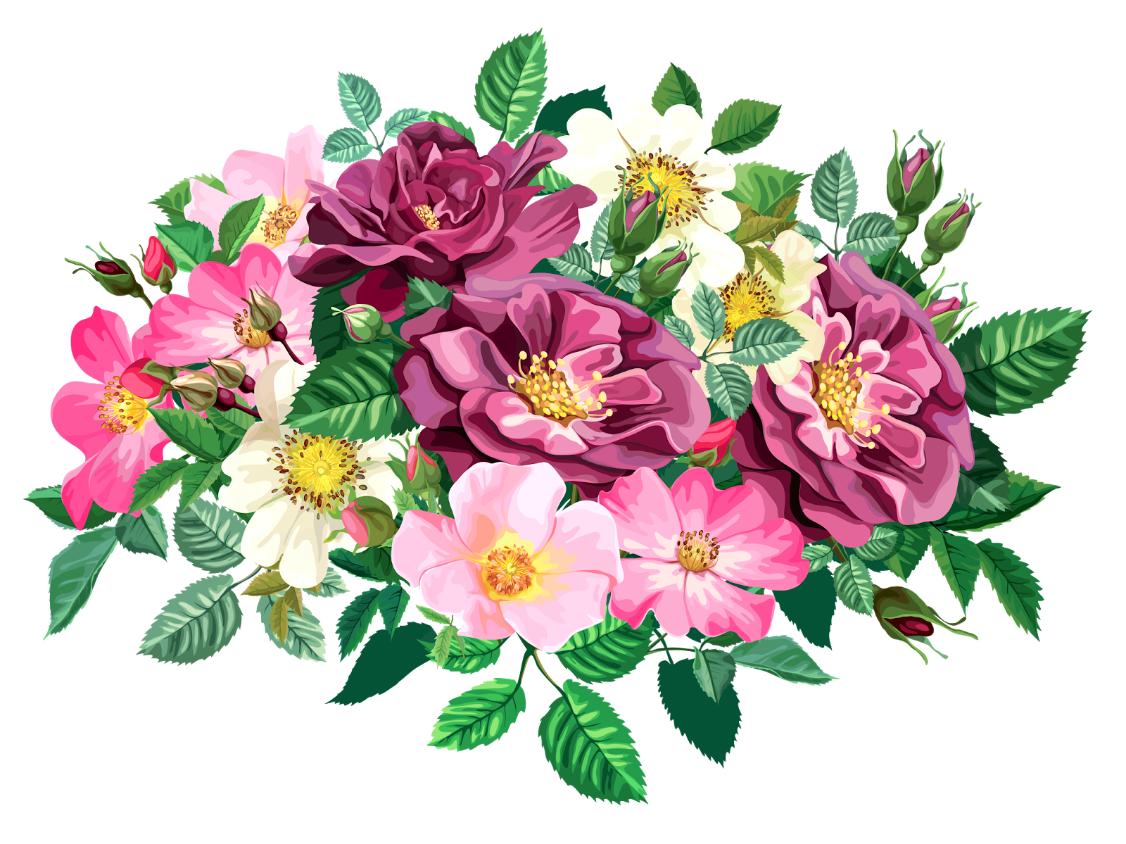 Rose Bouquet Clipart Transparent Design Patterns Studio Flower Art Flower Clipart Watercolor Rose