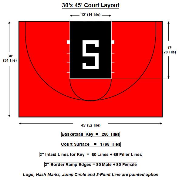 30 x 45 Flex Court Basketball Court | Basketball court ...