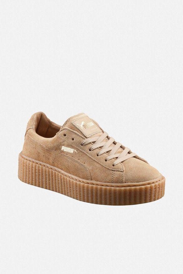 Puma Plataforma Zapatillas De Correas Damas Beige Athleisure Zapatillas Calzado Comfort Shoes