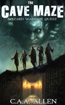 http://bit.ly/2jng01n -        The Cave Maze: Wizard Warrior Quest by C A A Allen   After losing the scholarship for the questing university, sword whiz Raff Jenkins takes drastic measures to earn tuition. With the help of his hustling cousin Dread and a party of rag-tag locals…he heads into the maze as a newbie. What he discovers inside is more than just treasure, bloodthirsty hags, or crotch-masticating hellhounds – he learns that a link to his past is tied to t