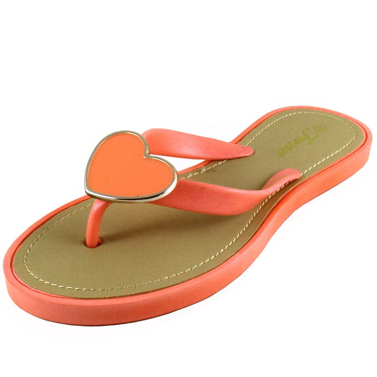 ac23f0e5dd8280 New women s shoes open toe t strap flip flop sandals summer casual coral  heart. Flip Flop SandalsFlip FlopsT ...