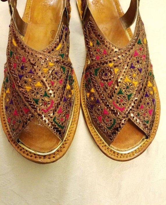 Details about  /Indian Leather  Punjabi Khussa Ethnic Juttis