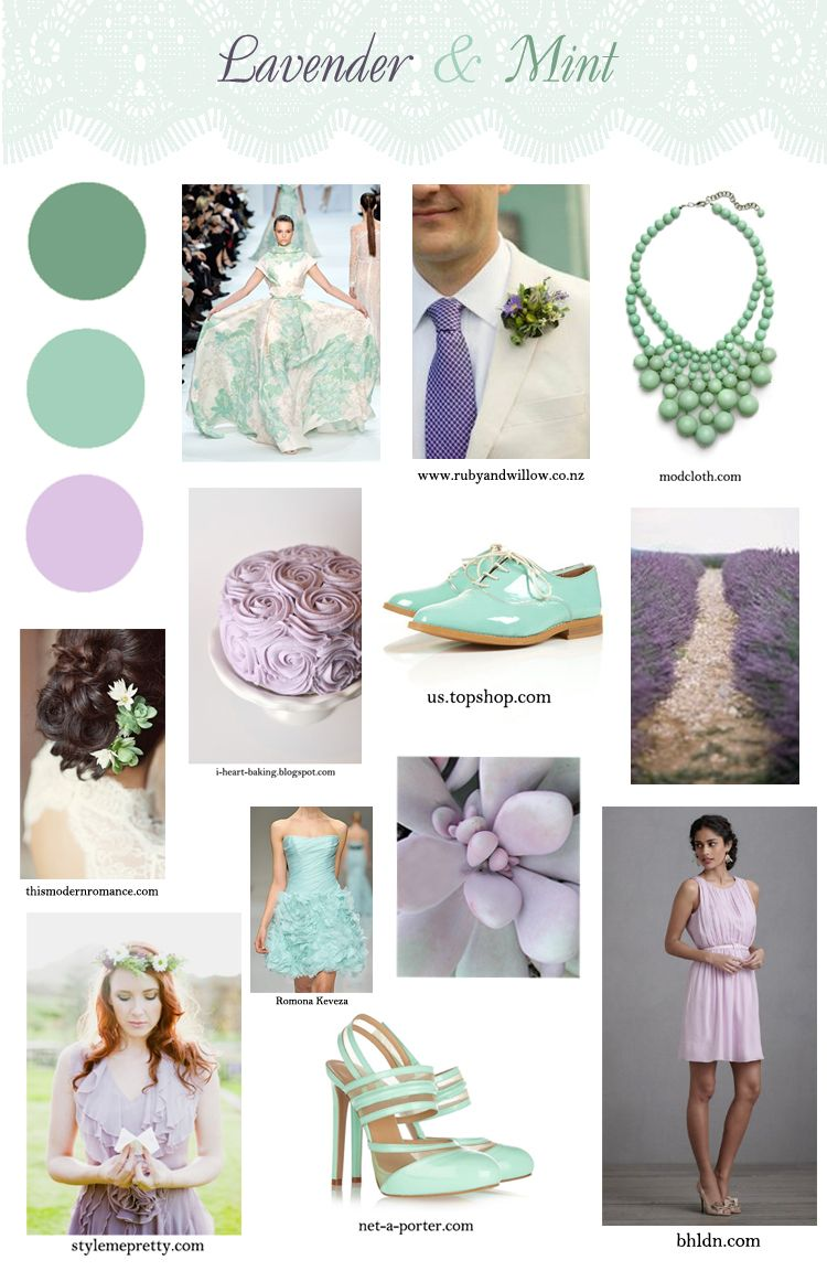Mint And Lavender Wedding Ideas Purple Blue Green