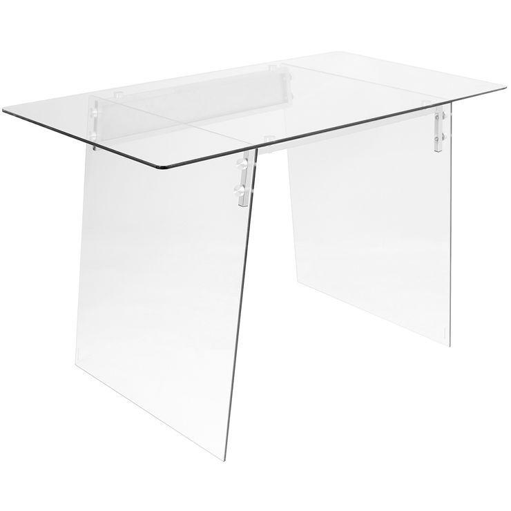 Glacier Glass Modern Desk Modern Office Desk Office Furniture