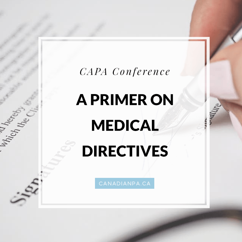 A Primer on Medical Directives for Physician Assistants
