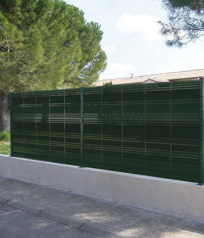 Occultant pour panneau grillage vert haut 1 65 m larg for Piscinas bricodepot