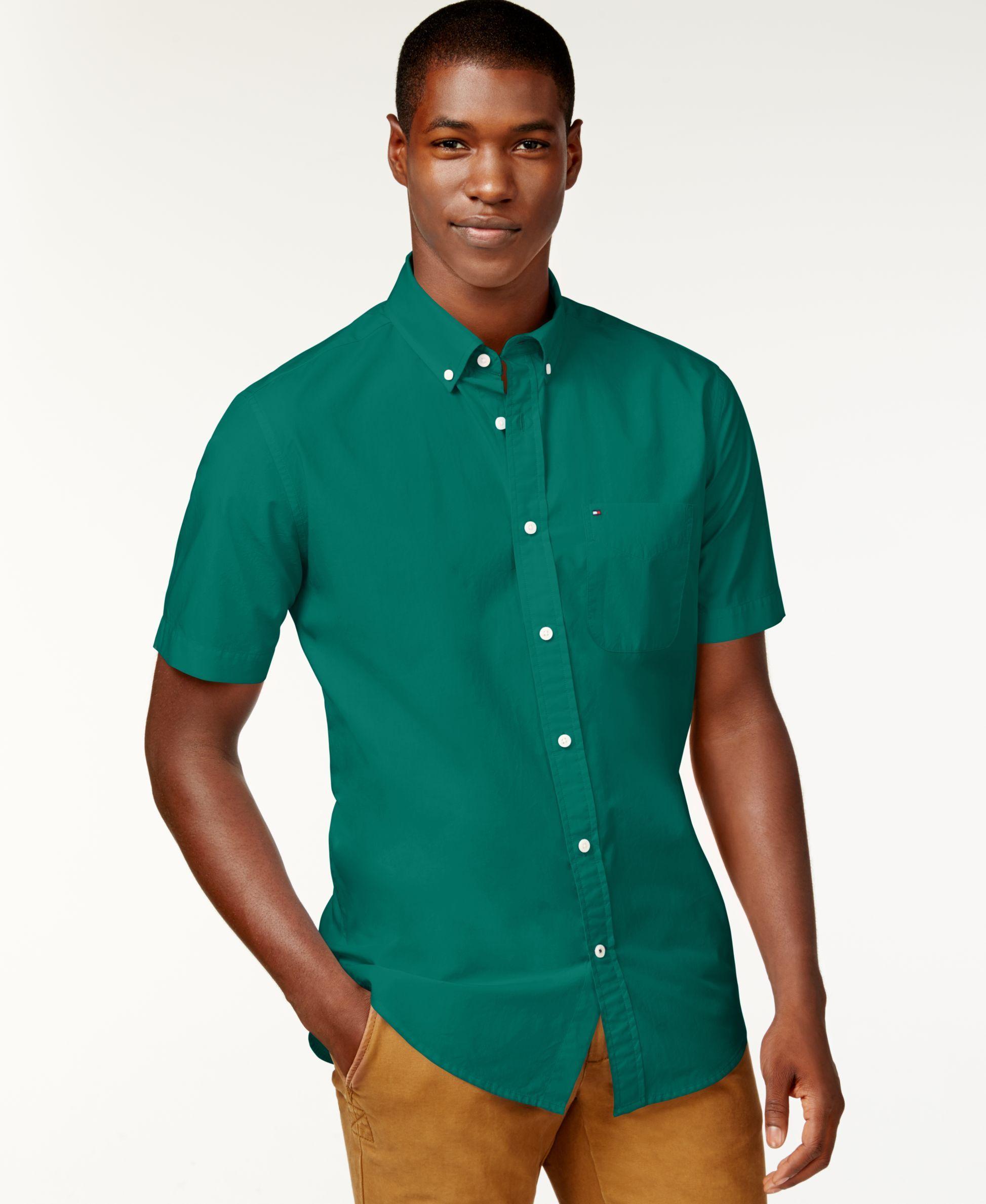 276a80cec Tommy Hilfiger Men s Maxwell Short-Sleeve Button-Down Shirt